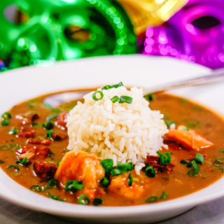 Cajun Style Shrimp and Sausage Gumbo | JenniferCooks