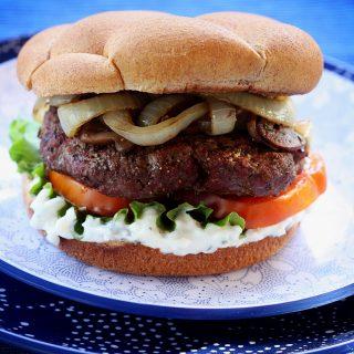Blue Cheese Burger | Jennifer Cooks