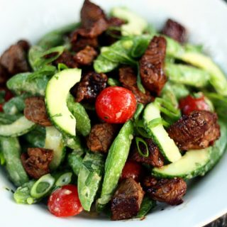 asian-sugar-snap-pea-steak-salad