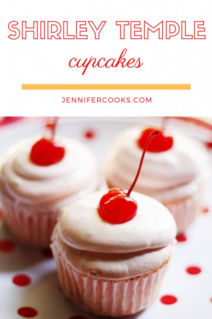 Shirley Temple Cupcakes | JenniferCooks.com