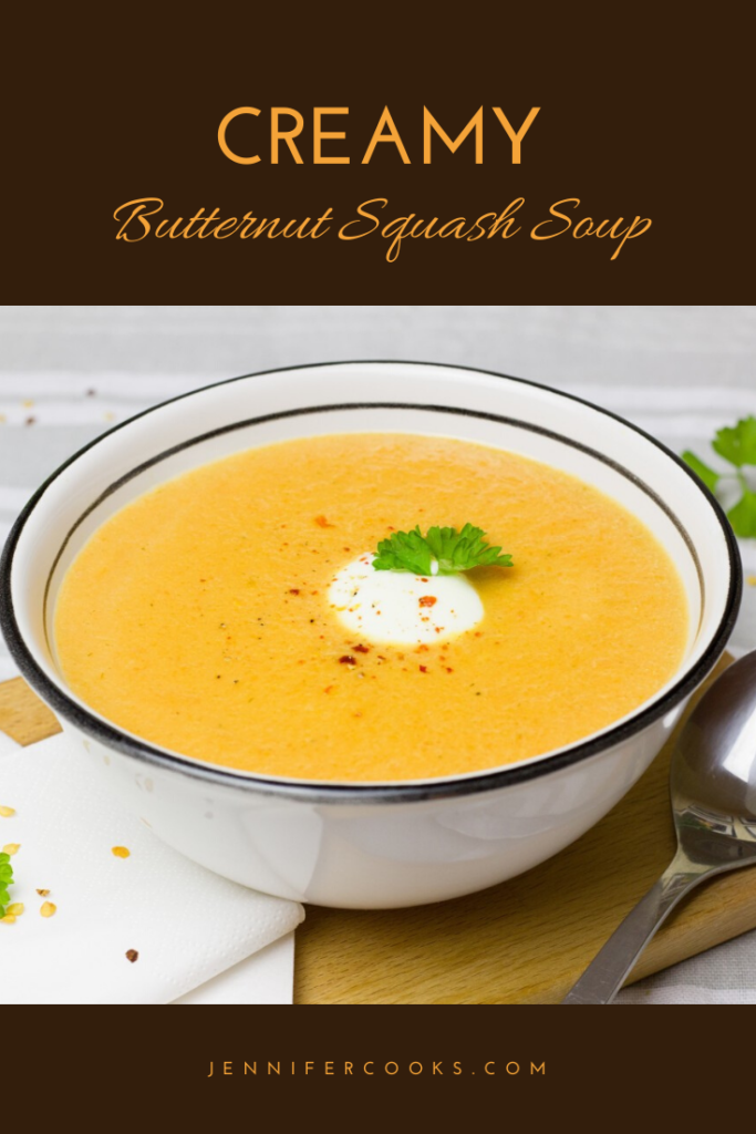 Creamy Butternut Squash Soup | JenniferCooks.com