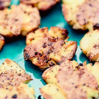 Grilled Smashed Potatoes | JenniferCooks.com