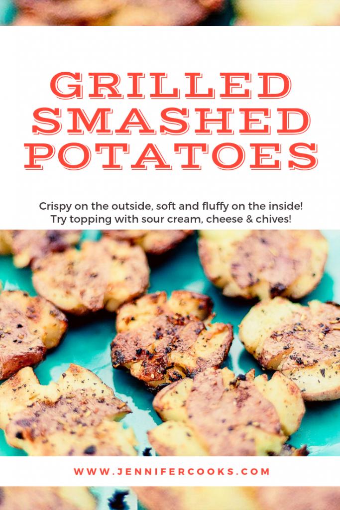 Grilled Smashed Potatoes   JenniferCooks.com