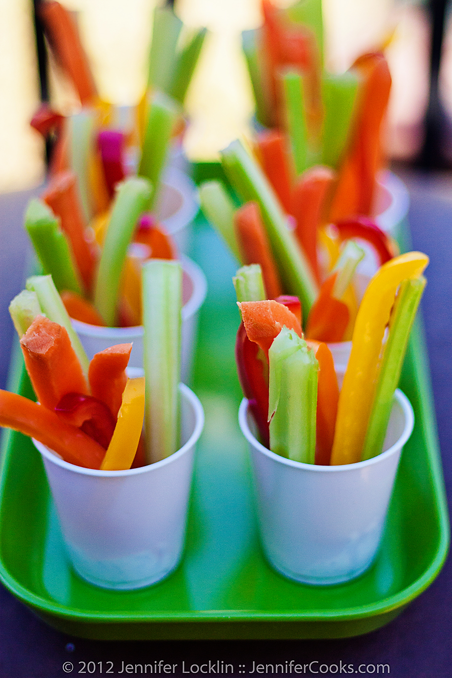 mini veggie dip cups