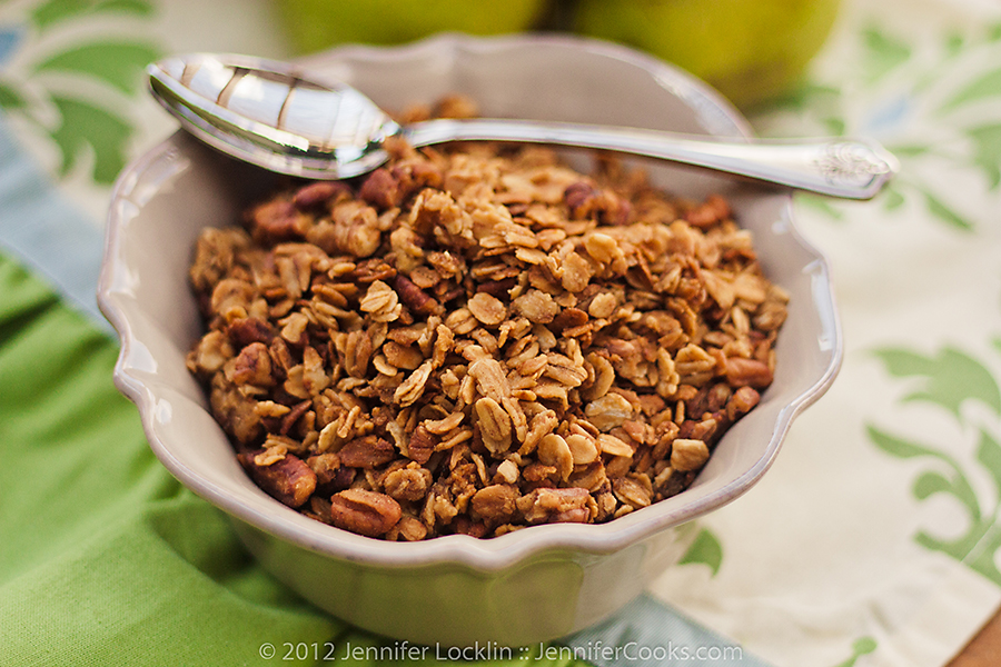 homemade granola is one of those super easy recipes that often gets ...