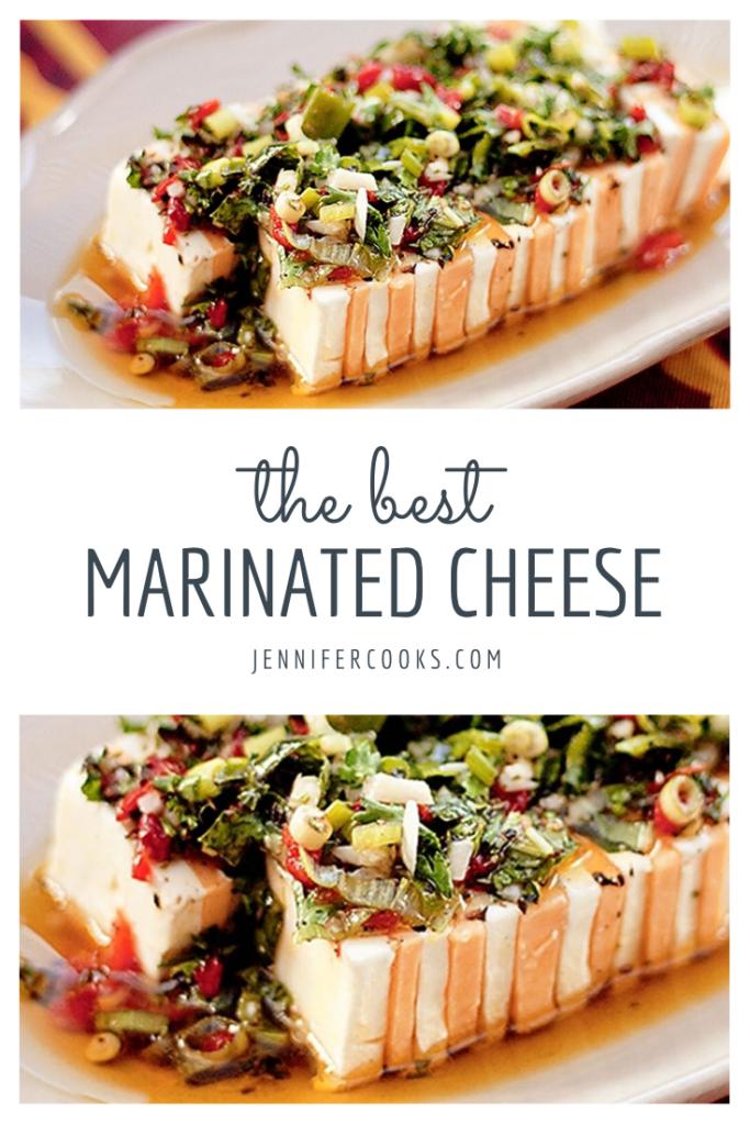 Marinated Cheese | Jennifercooks.com