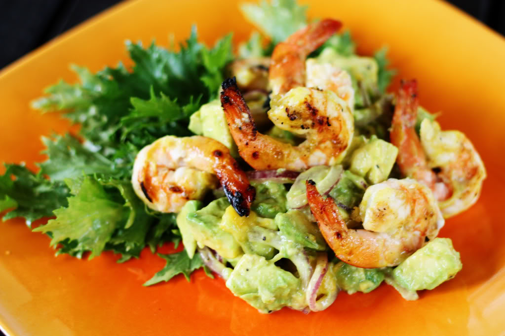Avocado-Mango Salad with Grilled Shrimp | Jennifer Cooks