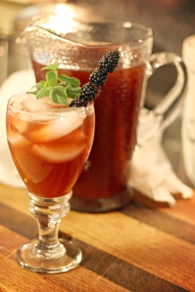 Blackberry sweet tea is a refreshing treat anytime!