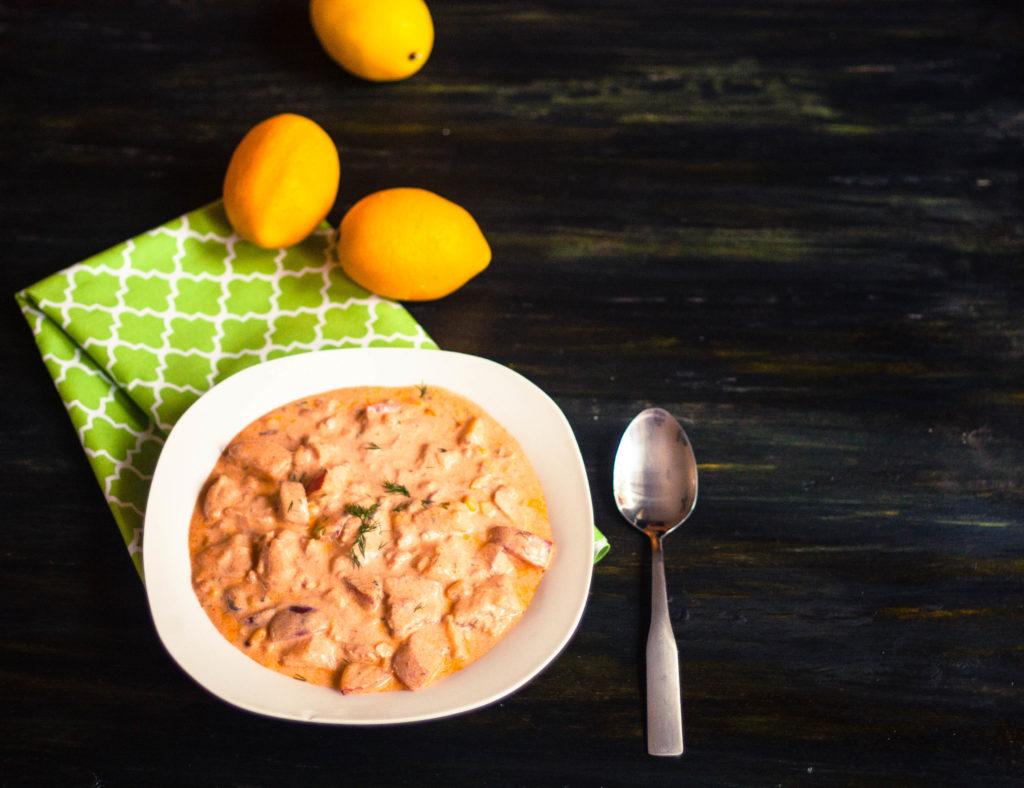 Creamy Salmon Chowder   JenniferCooks.com