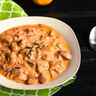 Creamy Salmon Chowder | JenniferCooks.com