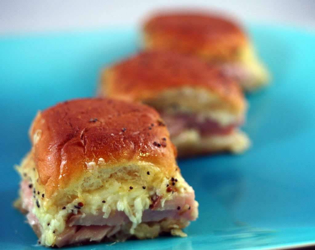 Hot Dinner Roll Sandwiches