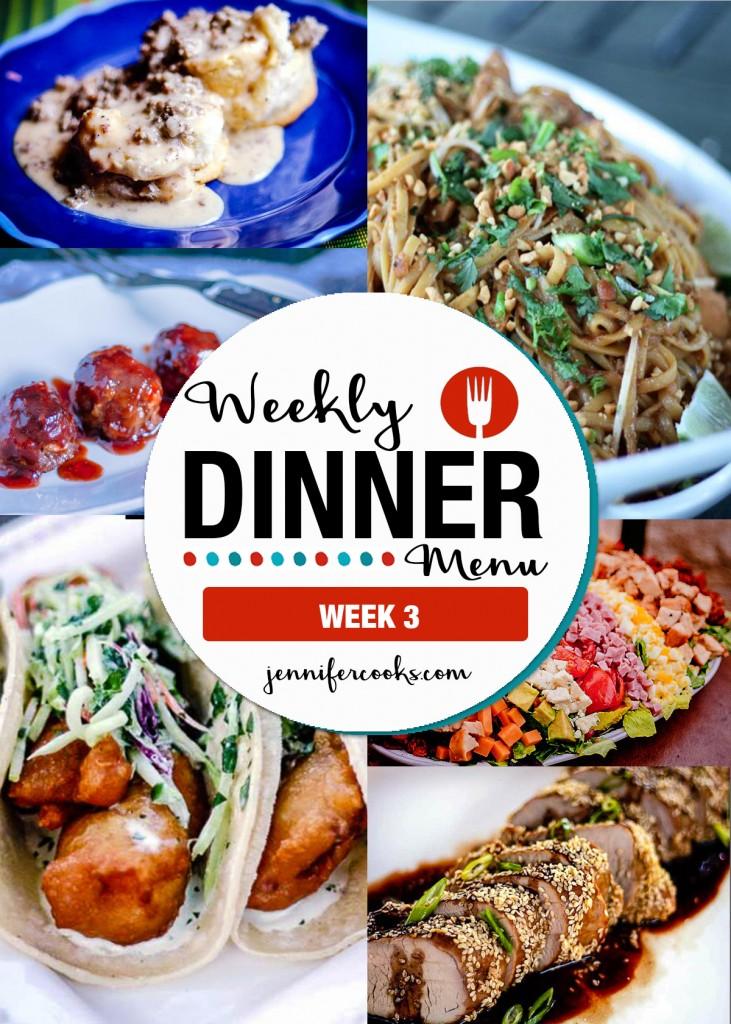 Weekly Dinner Menu Week 3   Jennifer Cooks