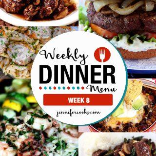 Weekly Dinner Menu: Week 8