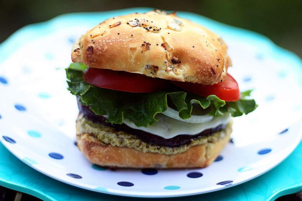 Portobello Burgers with Pesto Mayo   Jennifer Cooks