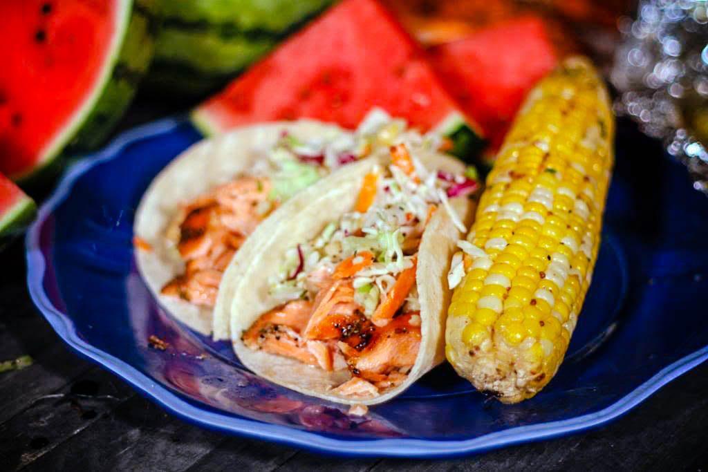 Grilled Salmon Fish Tacos | Jennifer Cooks