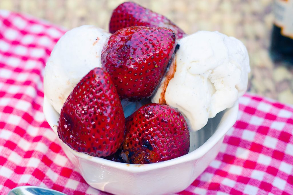 Grilled Strawberries | Jennifer Cooks