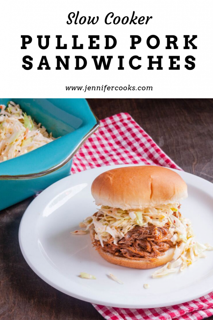 Slow Cooker Pulled Pork Sandwiches | JenniferCooks.com