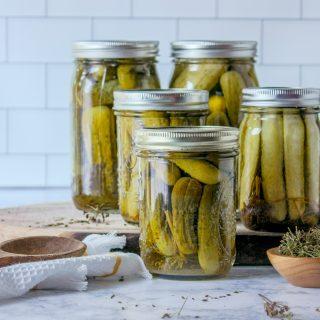 Dill Pickles Recipe | JenniferCooks.com