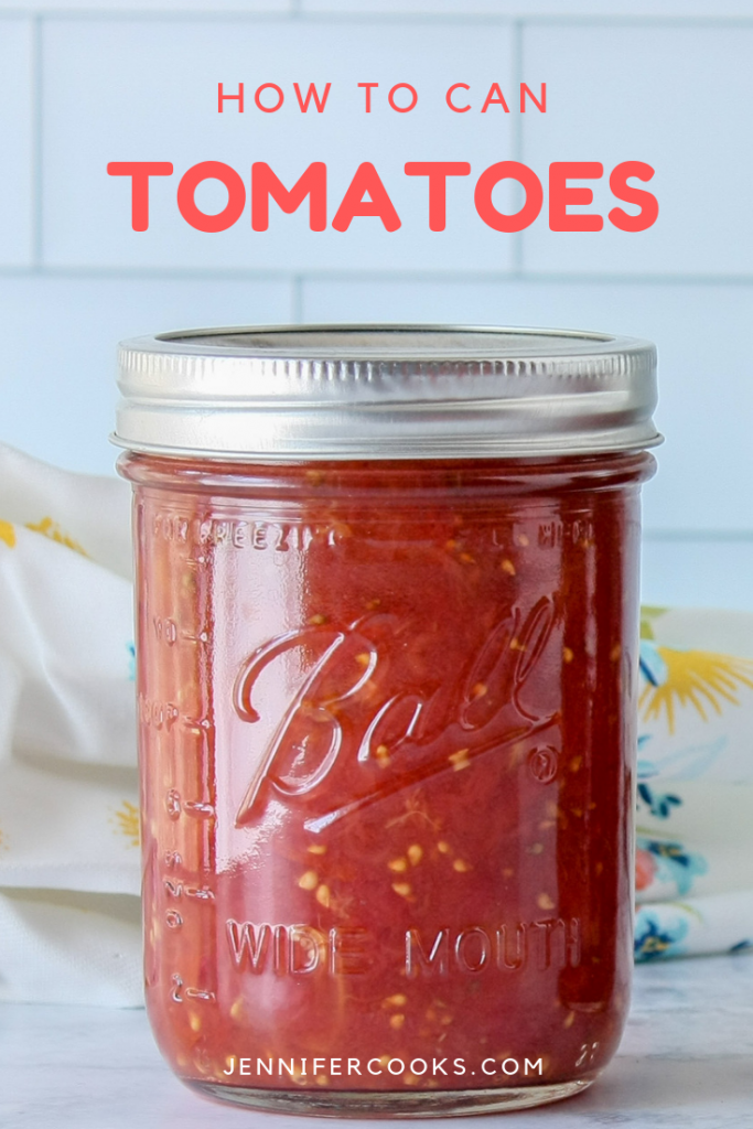 How to Can Tomatoes | JenniferCooks.com