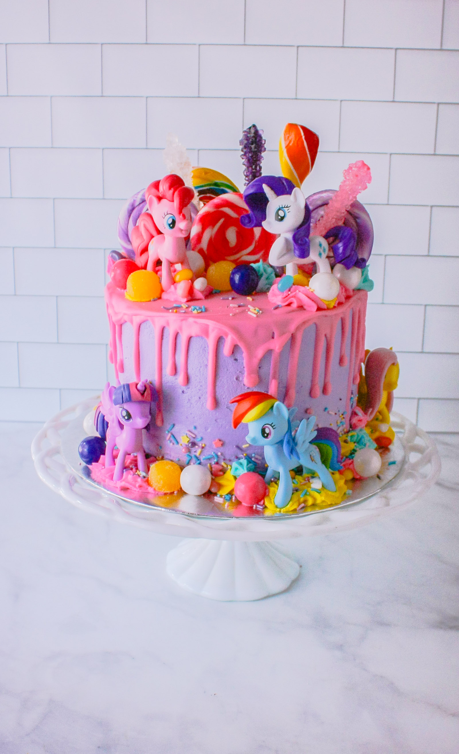 My Little Pony Birthday Cake.Vanilla Buttercream Frosting My Little Pony Cake