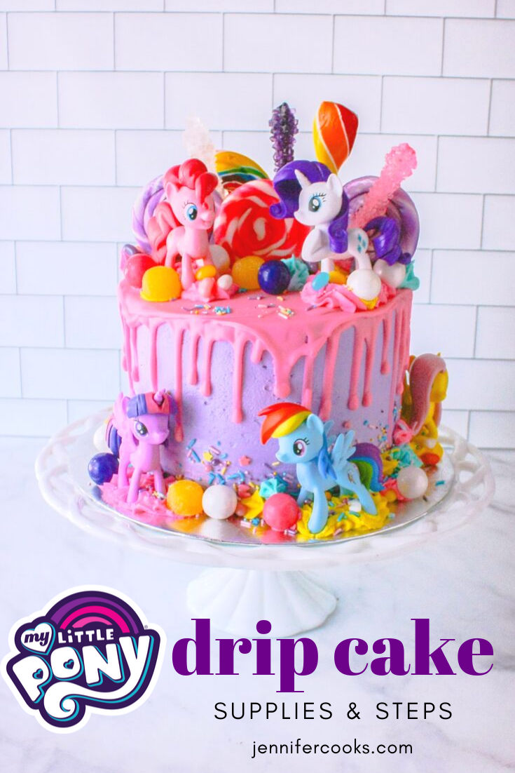 Peachy My Little Pony Cake Jennifer Cooks Personalised Birthday Cards Arneslily Jamesorg