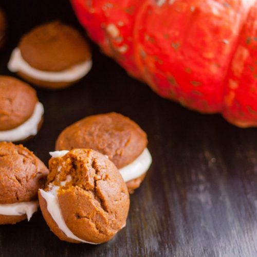 Pumpkin Whoopie Pies With Cream Cheese Filling Jennifer Cooks