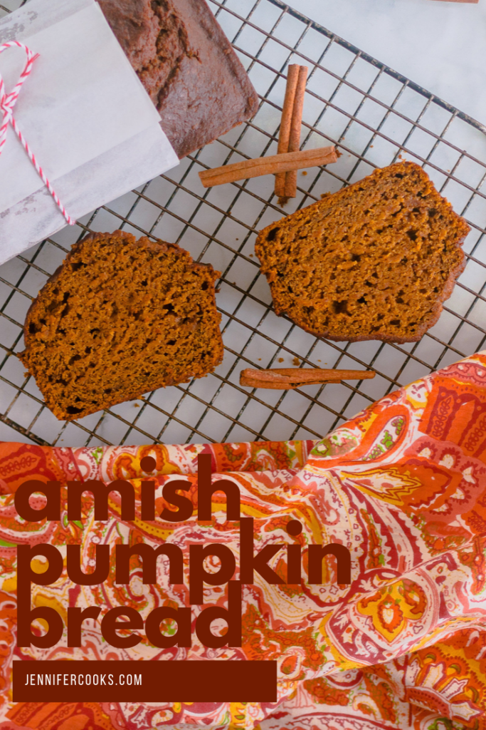 Amish Pumpkin Bread | JenniferCooks