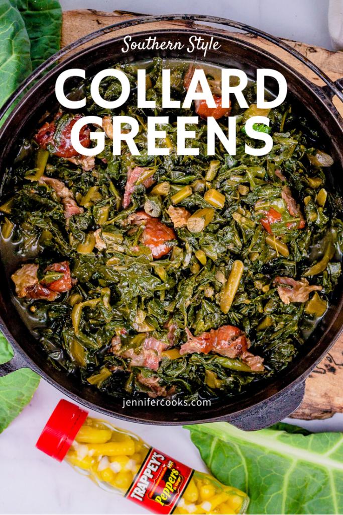 Southern Style Collard Greens   JenniferCooks.com
