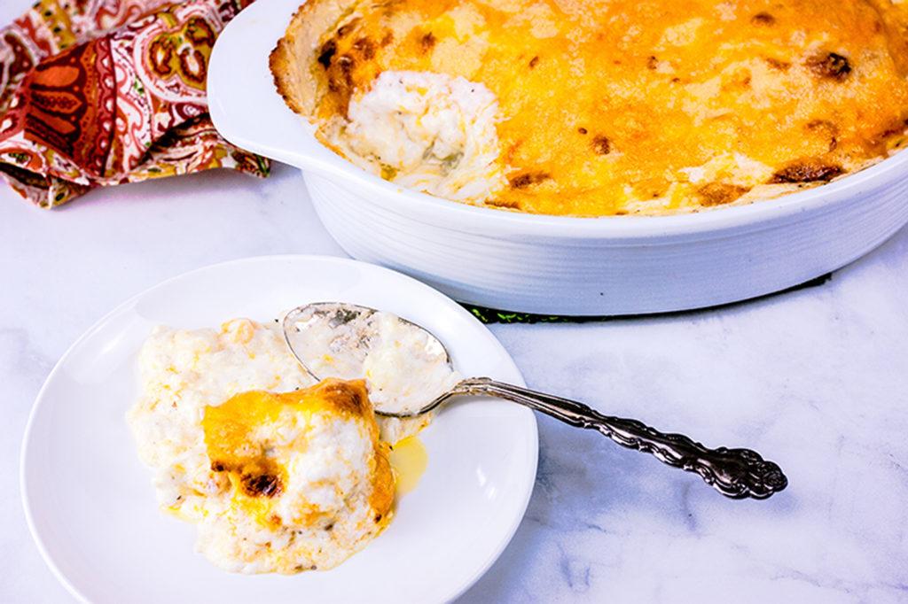 Creamy Cauliflower Au Gratin | JenniferCooks.com