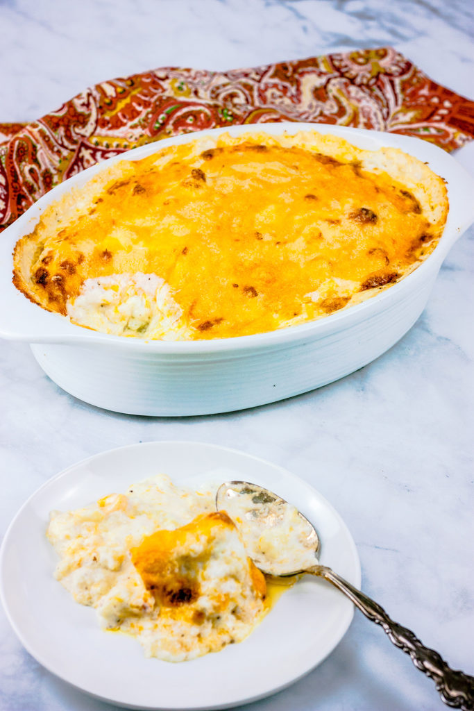 Creamy Cauliflower Au Gratin| JenniferCooks.com