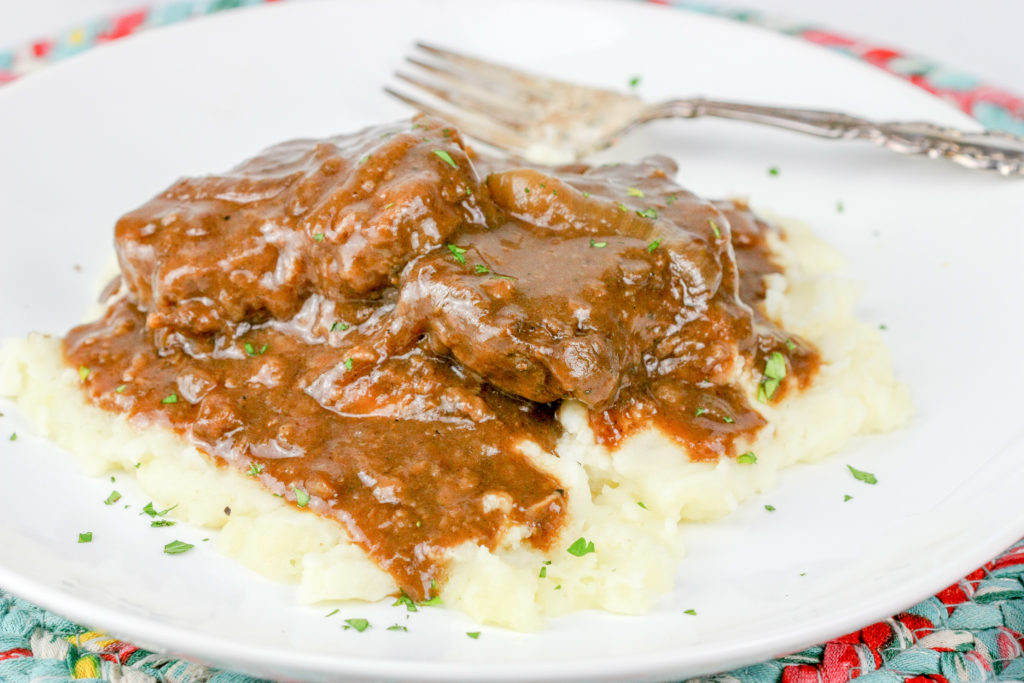 Smothered Steak | JenniferCooks.com