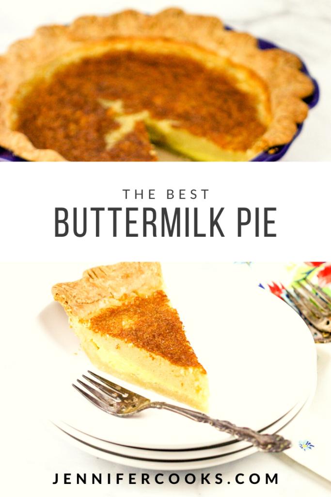 Buttermilk Pie | JenniferCooks.com