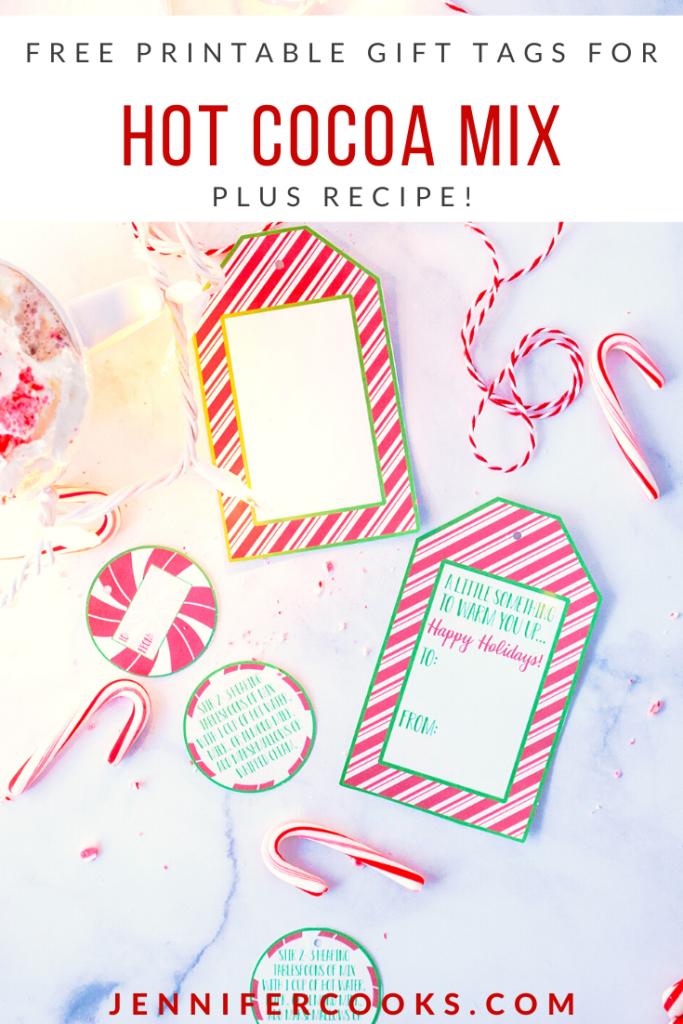 Gift Tags for Hot Cocoa Mix | JenniferCooks.com