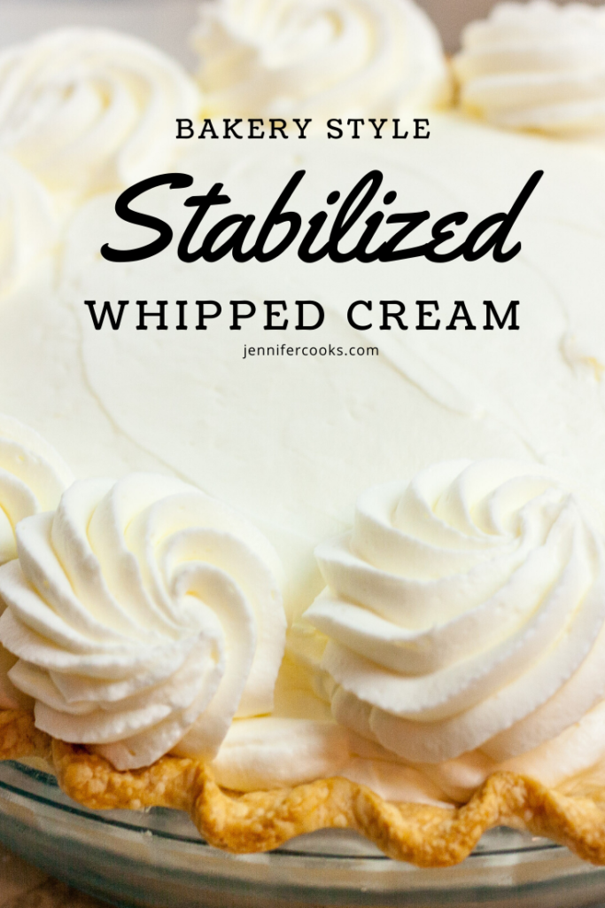 Stabilized Whipped Cream | JenniferCooks.com