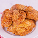 A plate of Grandma's Southern Fried Chicken | Jennifercooks.com